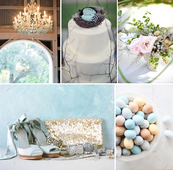 Duck Egg Blue Cream And Gold Wedding Inspiration 7