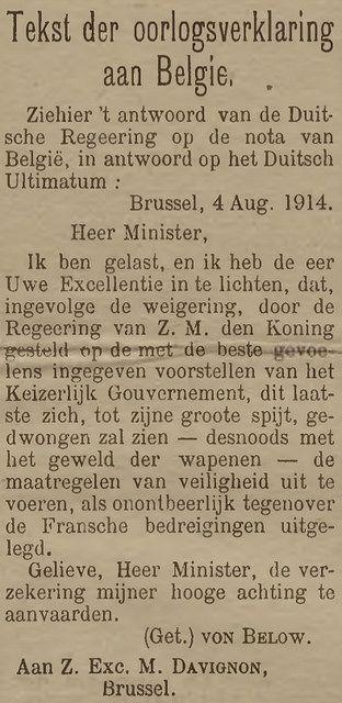 tekst van de verklaring van het Duitse Rijk aan onze minister van Buitenlandse zaken by mathildepaukens, via Flickr