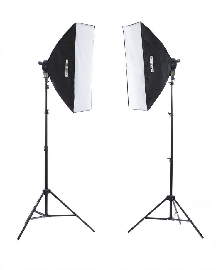 "Fovitec StudioPRO 3200 Watt Double 24""x36"" Softbox Continuous Portrait & Video Lighting Kit - Film, Photography & Studio Essentials Includes Light Stand & 45W Daylight Bulbs"