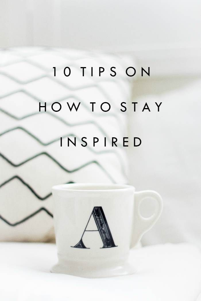 Tips on how to stay inspired and motivated! Live a healthy and happy life.