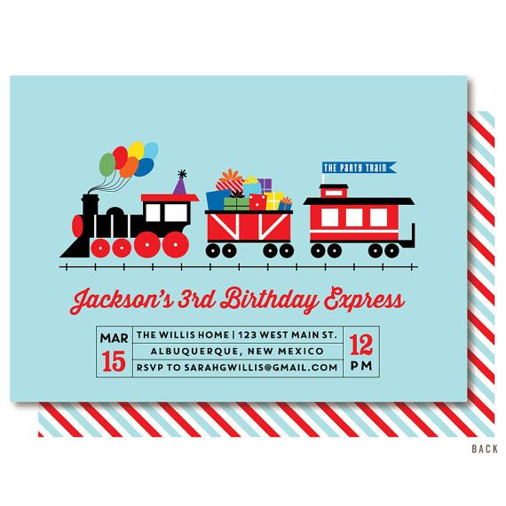52 best thomas invitations images on pinterest thomas and friends train birthday invitations train engine party by delightpaperie stopboris Images