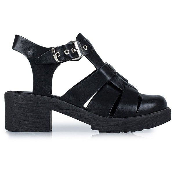 Nly Shoes Chunky Sandal (975 RUB) ❤ liked on Polyvore featuring shoes, sandals, heels, black, everyday shoes, womens-fashion, black strappy sandals, strappy sandals, black heel sandals and chunky sandals