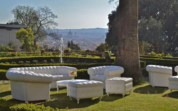ALMA Project @ Villa il Garofalo - Chesterfield sofa, garden, duomo brunelleschi 15