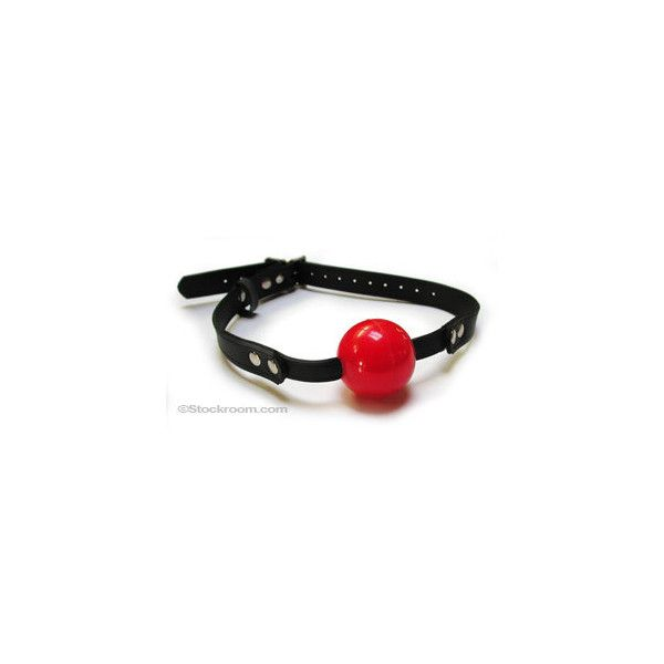 JT's Stockroom - Rubber Ball Gag w/ Buckling Rubber Strap ($42) ❤ liked on Polyvore featuring stuff