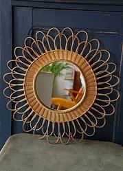 MIROIR SOLEIL en OSIER FLEUR : en vente sur le site www.weartgalerie.com