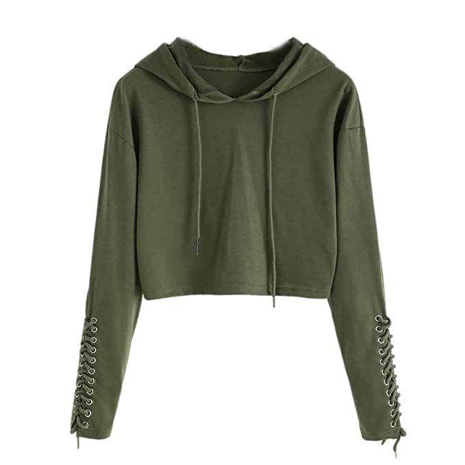 Neue hoodie Sweatshirt Frauen Langarm Tops Hoodies Armee