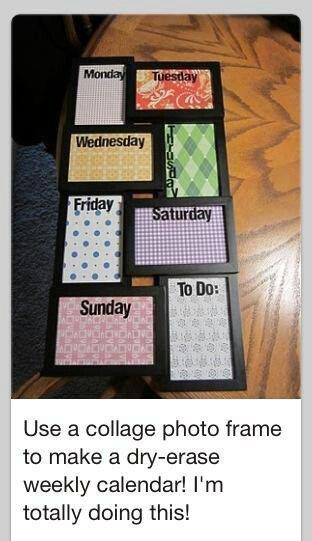 Homemade dry erase board! I'm so doing this!