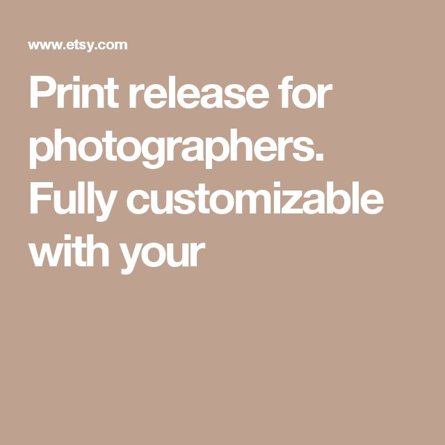 Best 25+ Print release ideas on Pinterest Model release - sample print release form example