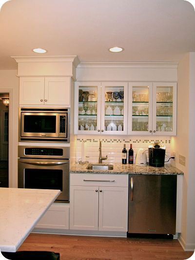My Basement Mini-Kitchen with Oven, Microwave, & under-the-counter fridge. Lovely! Thanks!