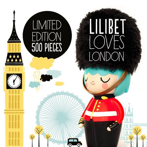 Lilibet Limited Edition from Momiji #LOVELONDON: Momiji Dolls, Kokeshi Dolls, Graphic, Lilibet Limited, Dolls Momiji, Momiji Lovelondon, Limited Edition