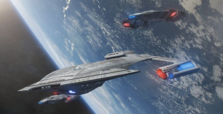 An Akira-class Battlecruiser with two Defiant-class Escorts. Problem solved.