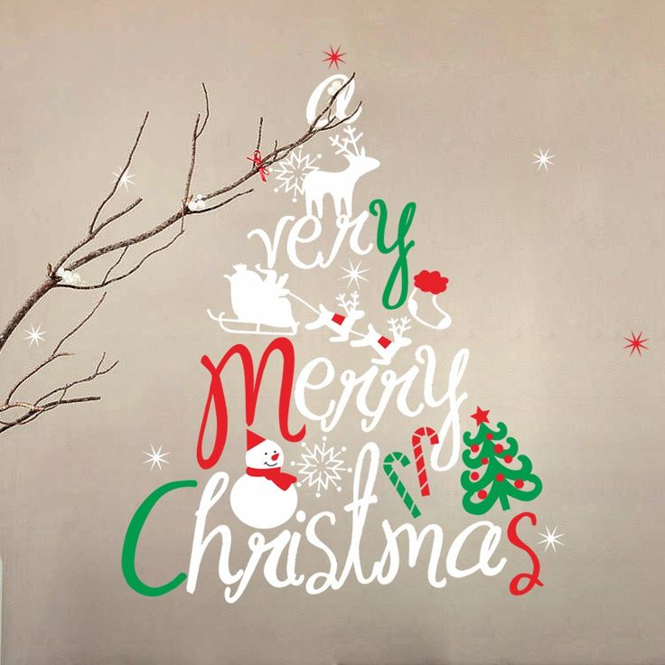 Christmas Wall Stickers Window Decals 48 best