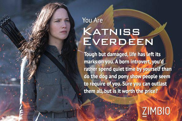 I'm Katniss Everdeen! Which 'Hunger Games: Mockingjay' character are you? #Mockingjay #ZimbioQuiz