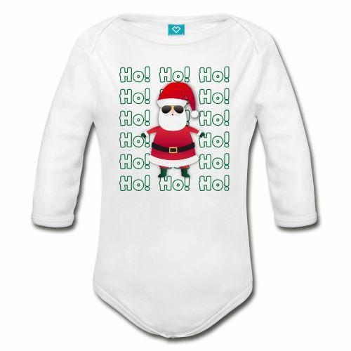 Cat Santa Claus Christmas Long Sleeve Organic Baby Onesies Bodysuits Set for Newborn Infant