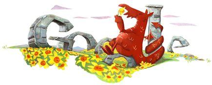 Google Doodle: St. David's Day 2012
