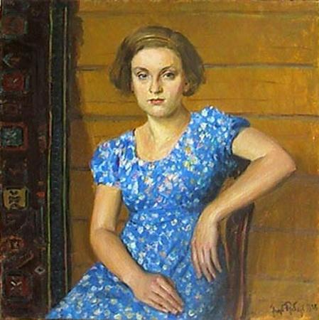 Igor Grabar (1871-1960) - Portrait of the Daughter, 1938
