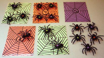 Spinnen tellen en het goede aantal toevoegen aan het cijfer