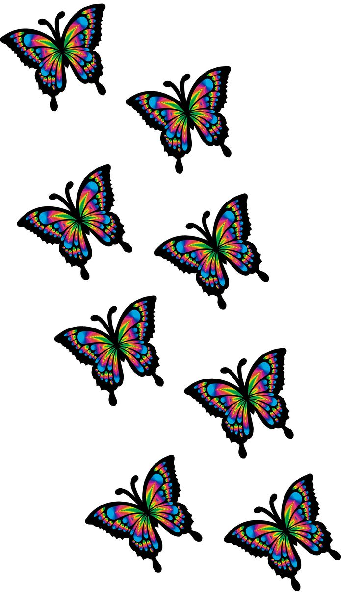 30 x Multicoloured Rainbow Butterfly Pack Car Van wall Stickers Decals Girls by LightningSignsShop on Etsy