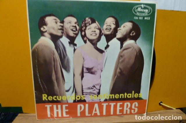 THE PLATTERS -IN A LITTLE SPANISH TOWN-Y 3MAS (Música - Discos de Vinilo - EPs - Rock & Roll)