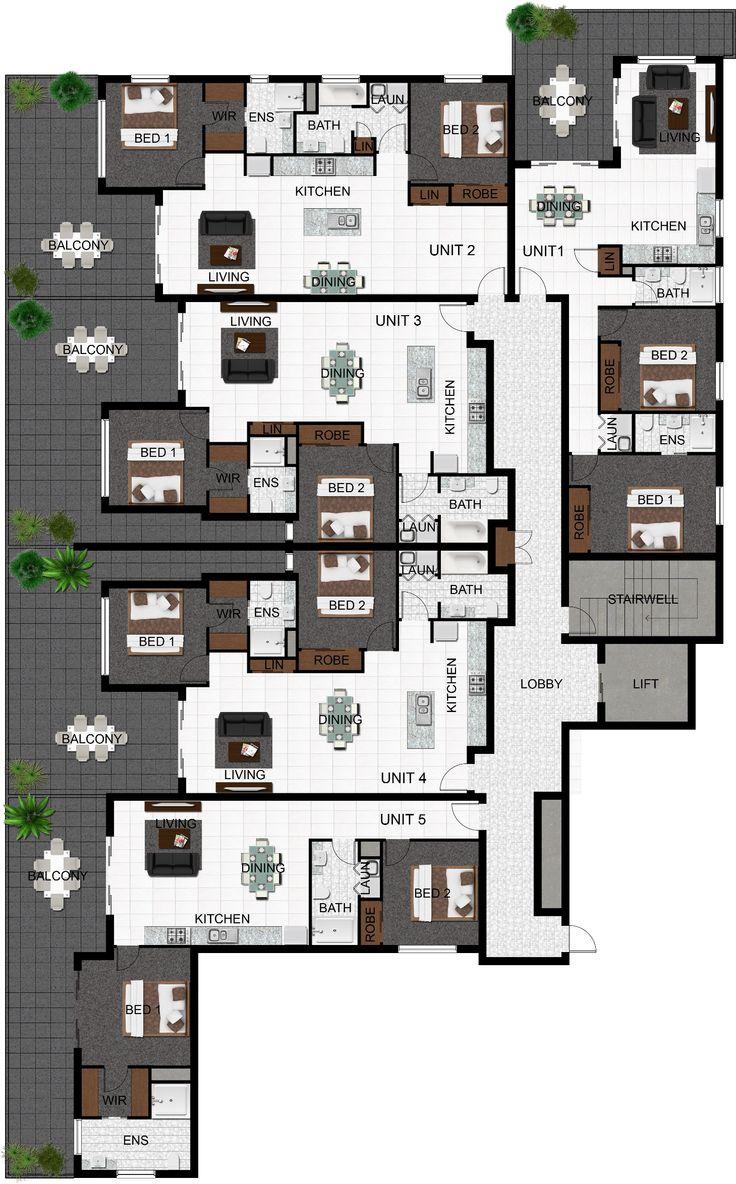 1000 images about plans planos on pinterest bedroom for Multi unit plans