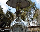 Artículos similares a Lámpara de botella de Tequila Patrón en Etsy