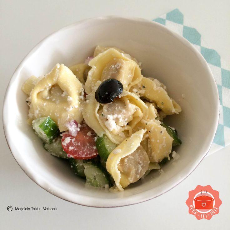 Griekse tortellini salade | KOOK . EET . DEEL