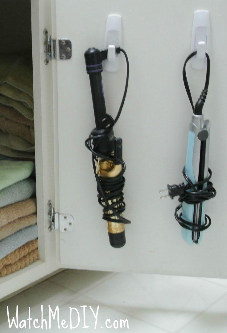 Storage for inside the bathroom vanity door!