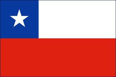 la bandera de chile tienes tres colores. rojo, blanco y azul.