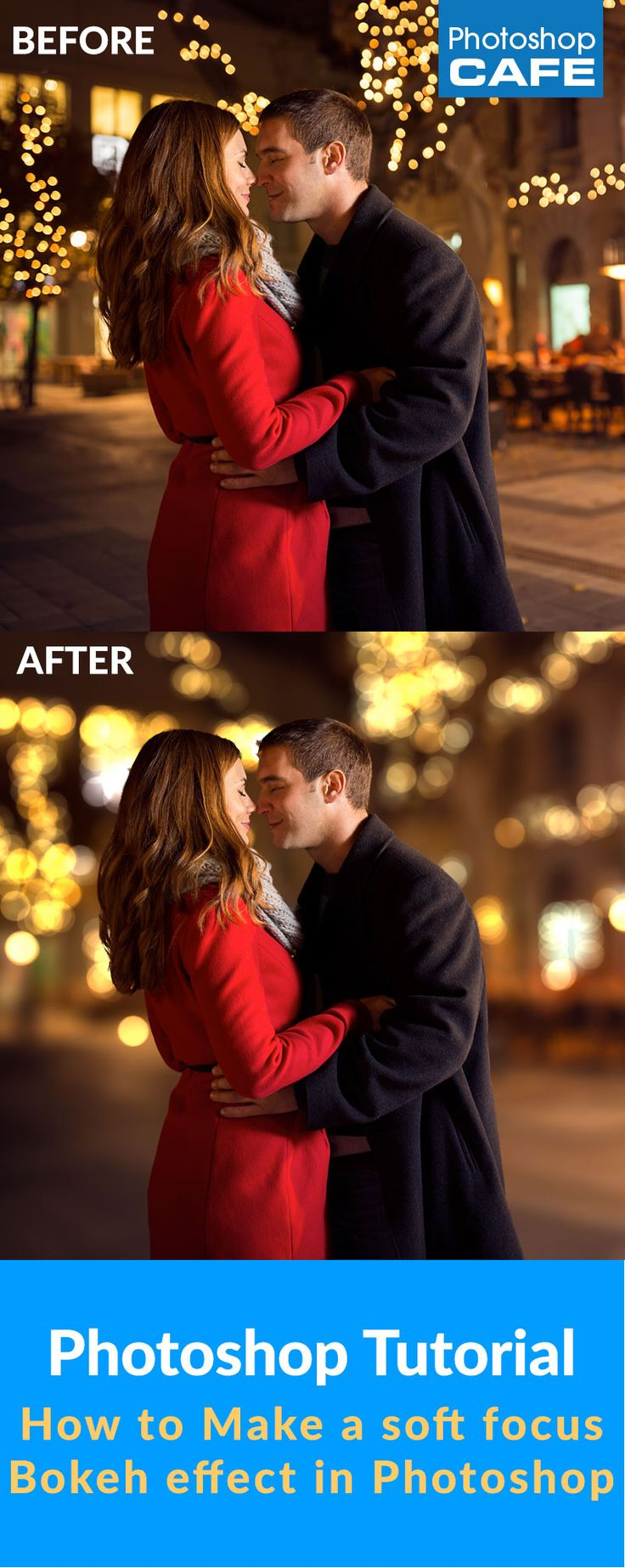 How to make a photorealistic lens bokeh effect in Photoshop. Don't just blur the… #Photoshop @English4Matura