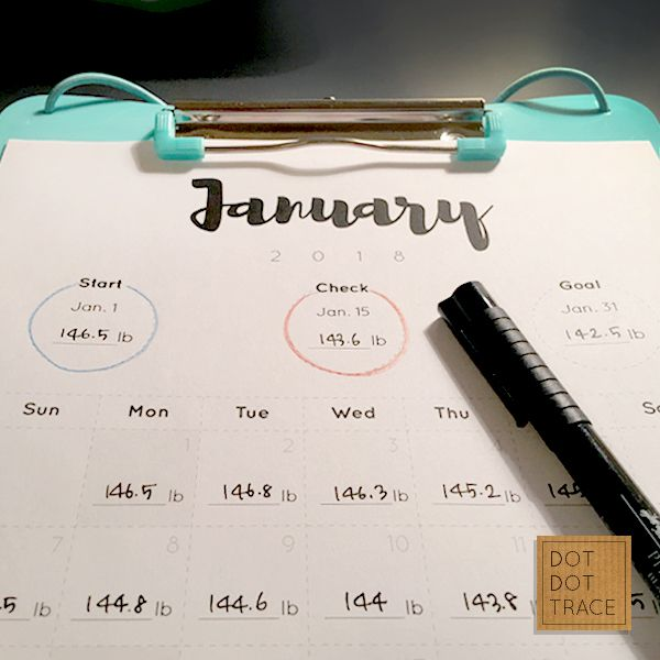 It's just an image of Slobbery Printable Weight Loss Calendars