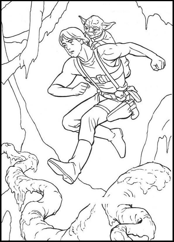 Luke Agility Training Body coloring picture for kids