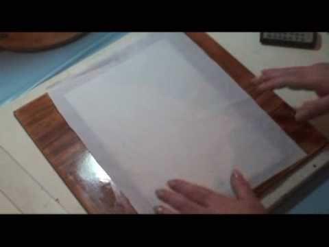 Видео от Лу Херингер . использование обёрточной тонкой бумаги для печати на принтере
