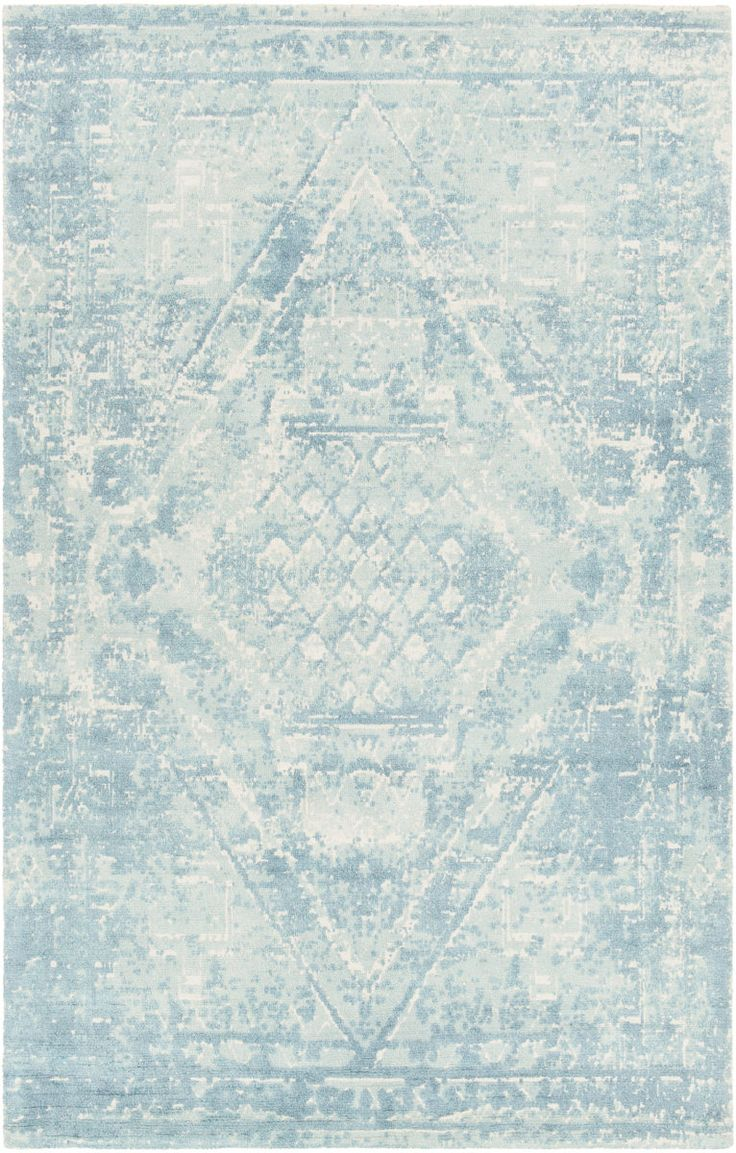 RugStudio presents the Tayla Tay42403 Blue - White by Chandra.