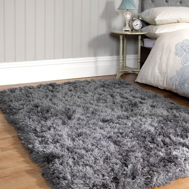 sumptuous shaggy rug slate grey - Grey Shag Rug