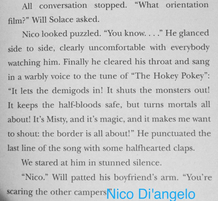 Camp Half-Blood Guide, Will Solace, Nico di Angelo, Solangelo