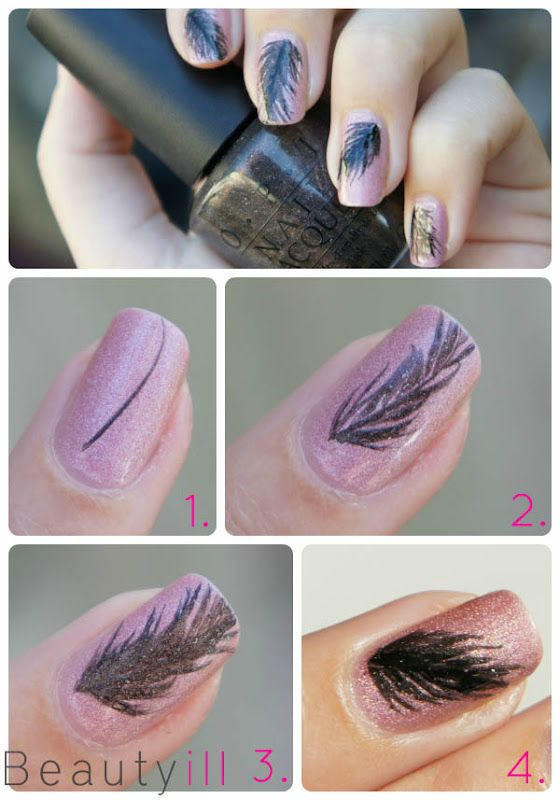 DIY Nailart United States of America, Indian Feather ~ Beautyill