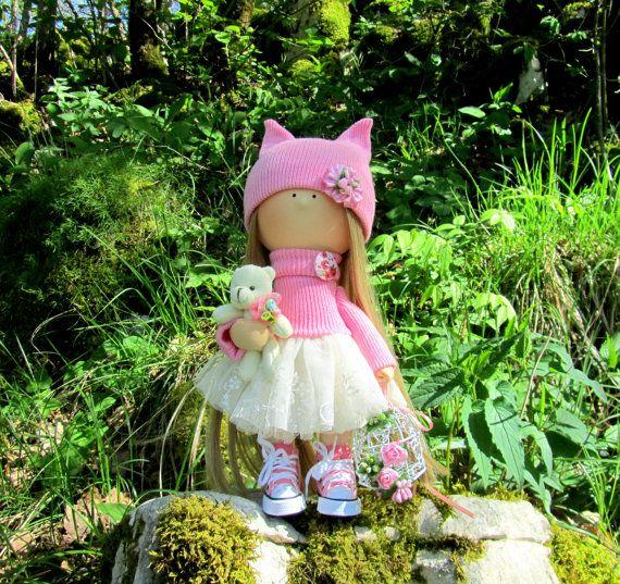 Jessie Doll-Handmade Doll-Fabric Doll-Rag by NICEDOLLSANDRABBITS