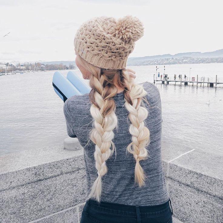Beanie and braids