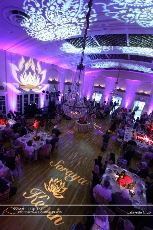 Wedding Uplighting At Lafayette ClubI NEED TO REMEMBER THE WORD UPLIGHTING