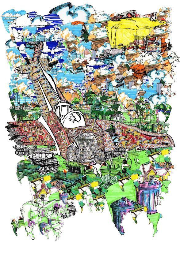 Jonathan Kelham 'Plane' #print