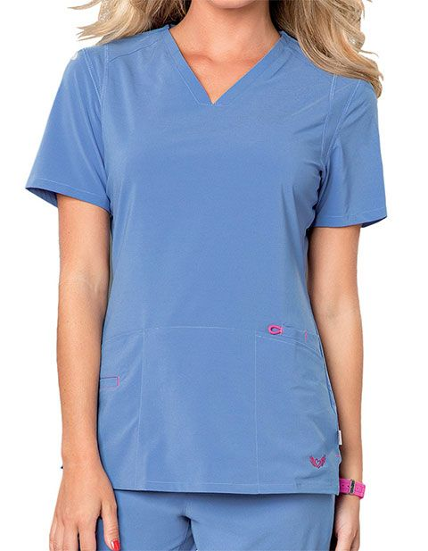a5cb7c4b1c9 Smitten Women's Rock Goddess V-neck Scrub Top Item #: SM-S101002 ...