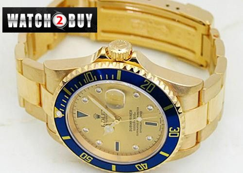 Buy Rolex Oyster Submariner Date Yellow Gold mens Watch 16618CDD Online