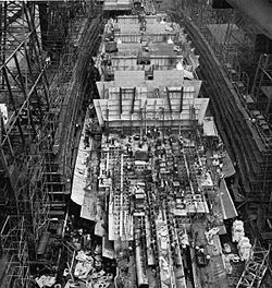 USS Illinois BB-65, would have been the 5th Iowa-class battleship, but was never finished.