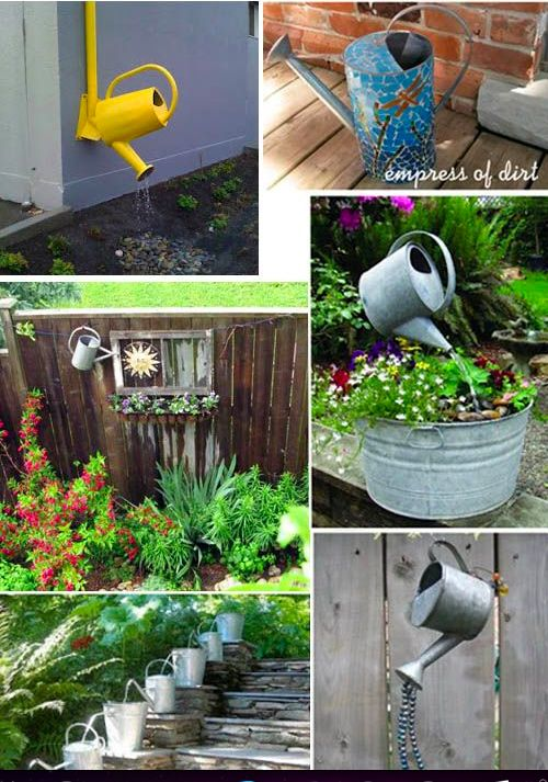 Diy Watering Can Garden Art Amp Fountains Lt S Likes
