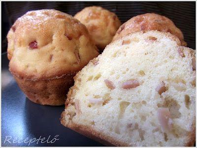 Receptelő: Pirított hagymás-sonkás-füstölt sajtos muffin