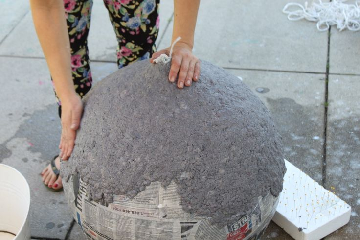 DIY: How to Make A Paper Mache Lamp | Pretty Prudent