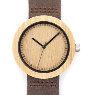 Armbanduhren - Armbanduhr WOOD Frauen Holz braun - ein Designerstück von Vintage-Basar bei DaWanda