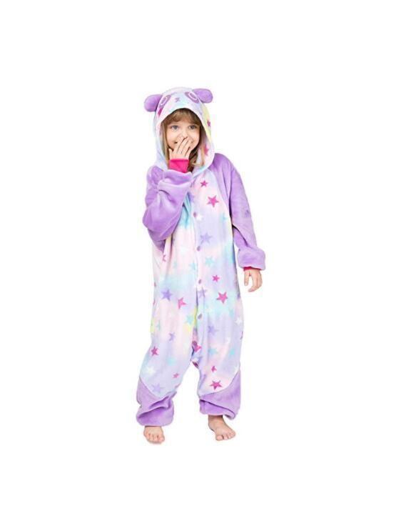 Rainbow Star Unicorn Sleepwear Kigurumi Pajamas Animal Cosplay Costume Onesie0!!
