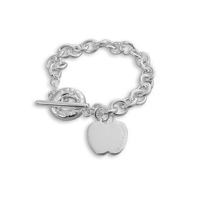 This site has cheap tiffany & co jewelry....Tiffany And Co Bracelet Apple Tag Toggle Silver 098