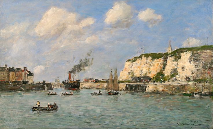 Lentree du port, Dieppe
